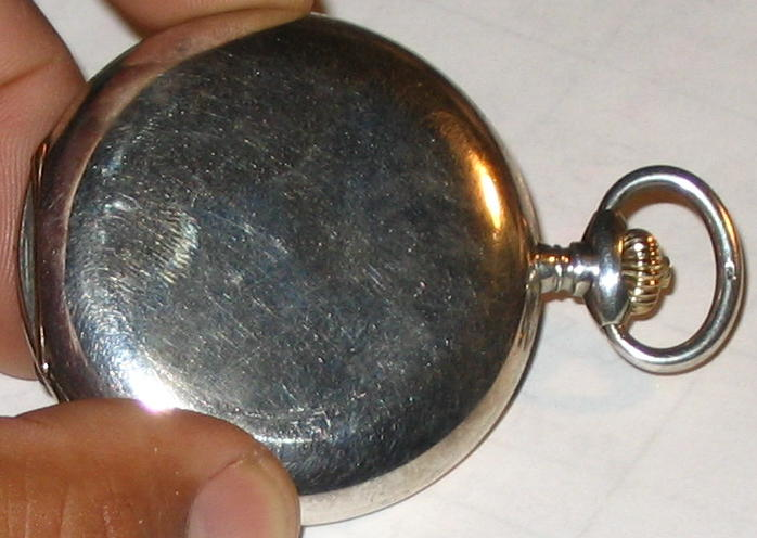 More Pics Silver & Gold Pocket Watch
